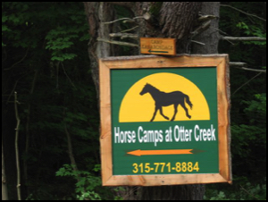 Horse Camp sign